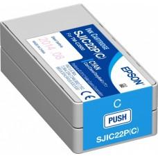 Голубой картридж SJIC22P(C)  для TM-C3500